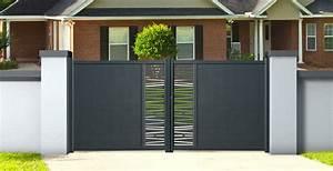 Portail Alu 4m : portail aluminium ajour bondi 3 m double battant hauteur ~ Voncanada.com Idées de Décoration