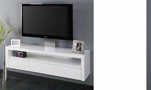 Meuble Tv Blanc Laqué : meuble hifi suspendu design ~ Teatrodelosmanantiales.com Idées de Décoration