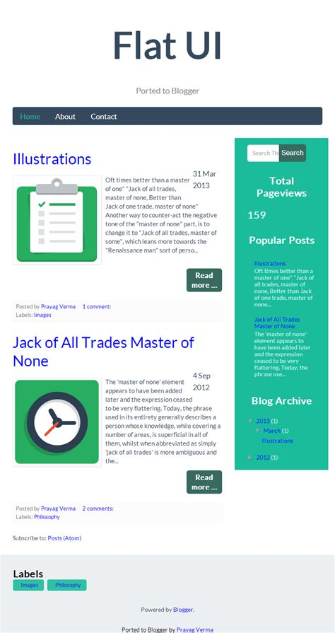 New Blogger Template : FlatUI   Stylify Your Blog