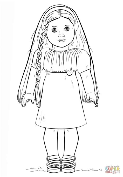american doll julie coloring page png (824×1186
