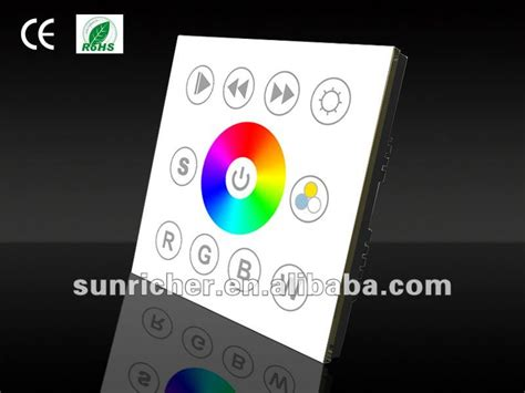 12v led dmx512 manual touch rgb rgbw controller panel