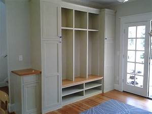 Wall Built In Custom Mudroom Cubby Design Painted With