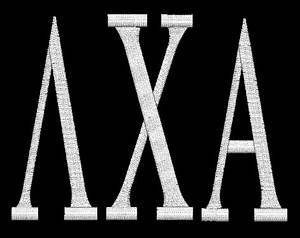 awesomedorags With lambda chi alpha stitched letters