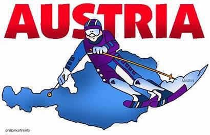 Austria Clipart Clip Europe Austrian Map Traveled