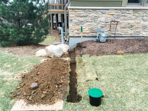 Underground Downspout Diverter  Extension Keeps Roof