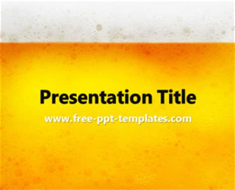 beer  template  powerpoint templates