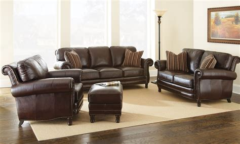 leather livingroom sets chateau top grain leather living room set ch860s steve