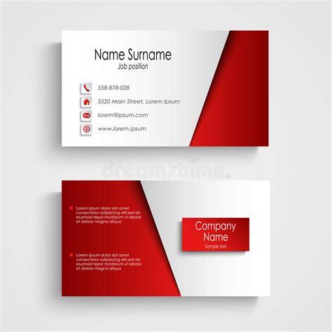 modern light red business card template stock vector