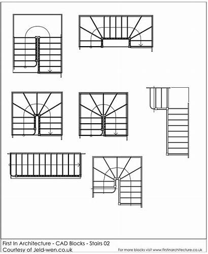 Stairs Cad Blocks Drawing Staircase Autocad Plans