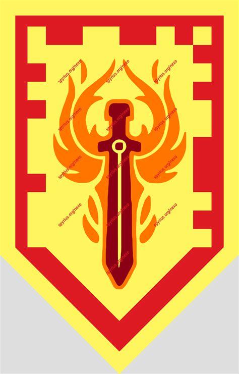 Phoenix Blaze Nexo LEGO Knights Shields