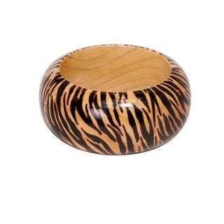 shop nexte jewelry natural wood zebra print bangle