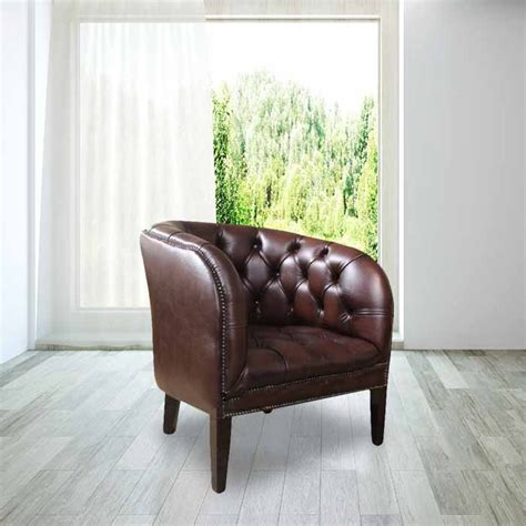 brown leather chesterfield tub chairs designersofas4u
