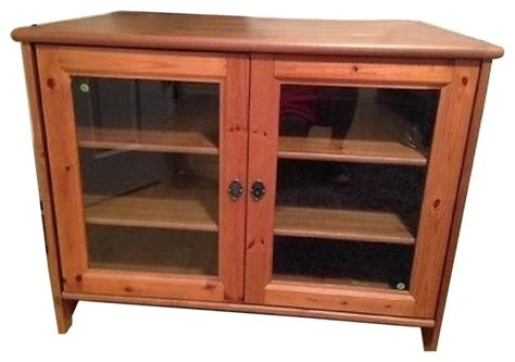 entertainment cabinet with doors ikea leksvik solid pine tv cabinet with glass doors