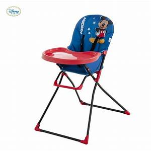 Chaise Haute Mac Baby Mickey Mouse Disney Hauck Rouge