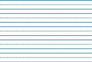 School smart sulphite skip a line paper 10 1 2 x 8 for Learning to write paper template