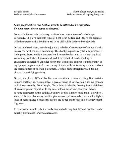 Free ielts essay writing samples