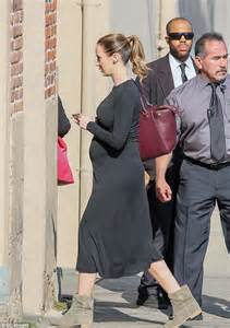 ponytail bump emily blunt puts blossoming belly on display in