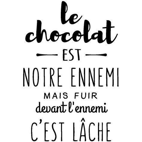 stickers recette cuisine sticker citation le chocolat est notre ennemi stickers