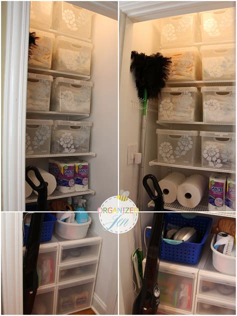 Linen Closet Organization Idea