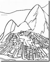 Picchu Machu Inca sketch template