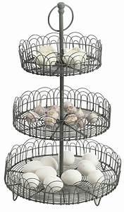 Obst Etagere Metall : etagere aus metall von madam stoltz mit 3 k rben h he 50 cm vintage look ebay ~ Whattoseeinmadrid.com Haus und Dekorationen