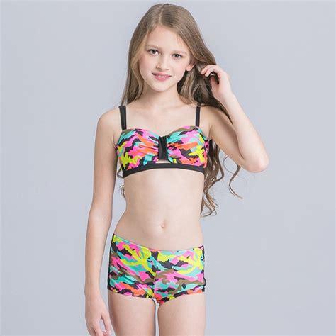neue maedchen camouflage bikini badeanzug kind maedchen