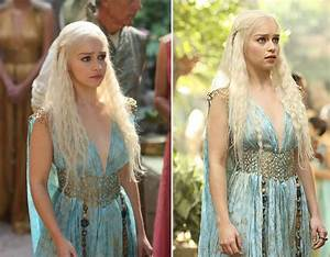 Daenerys Targaryen's Blue Gold flowy Qarth dress | Books ...