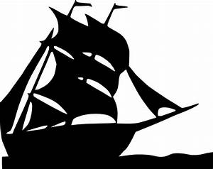 Pirate Ship Clipart Black And White | Clipart Panda - Free ...