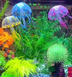 z fish tank decorations effect artificial jellyfish ornament fish tank aquarium