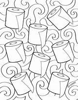 Paper Toilet Sheet Colouring Printables sketch template