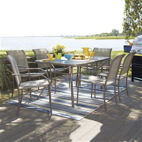 garden treasures driscol 7 outdoor dining set 6