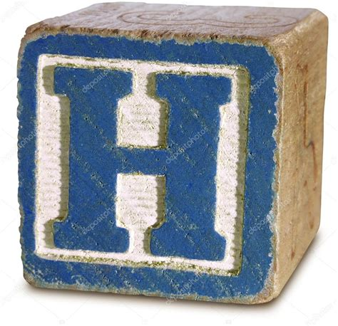 block letter h photograph of blue wooden block letter h stock photo 54182