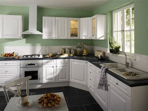 cuisine verte et blanche cuisine leroy merlin vert et blanche photo 10 10 cet
