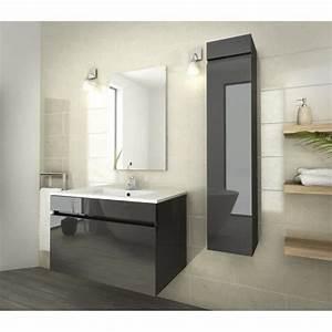 luna salle de bain complete simple vasque l 80 cm gris With simple vasque salle de bain