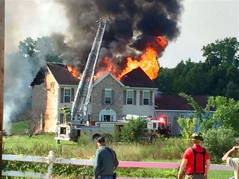 Pa Firefighter Injured At Large House Fire