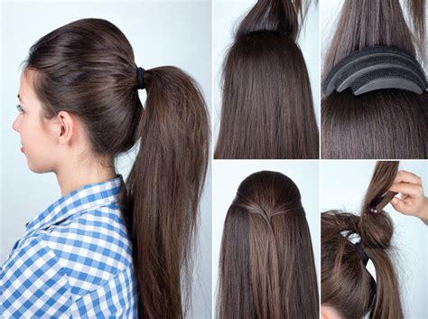 tutorial toupierter volumen zopf frisuren magazin