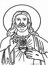 Jesus Coloring Pages Heart Printable Sacred Drawing Christ Cross God Cool2bkids Template Rock Printables Son Holiday Glorious Bring Designed Season sketch template