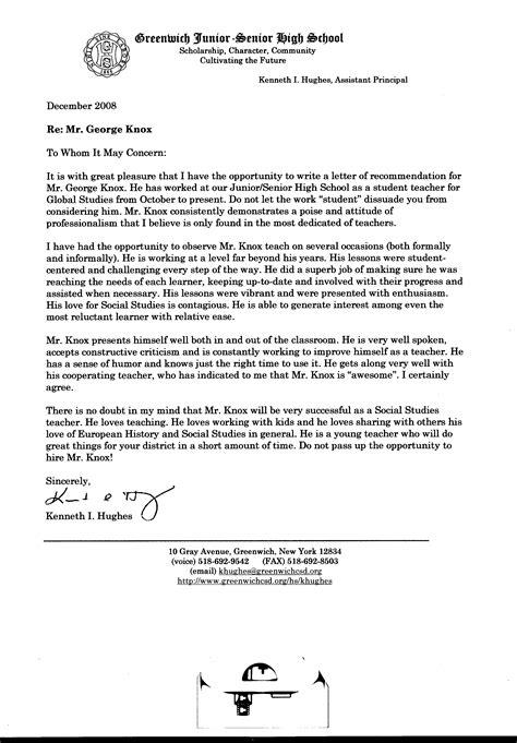 letter to high school senior letter of recommendation for high school senior 23211