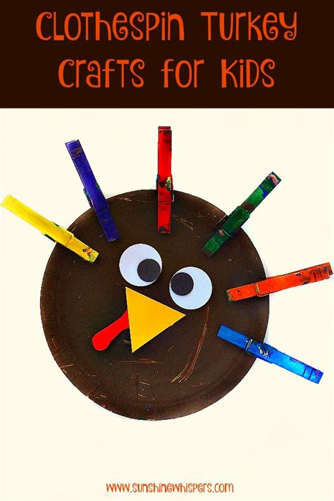 thanksgiving crafts for toddlers clothespin turkey crafts for 5563