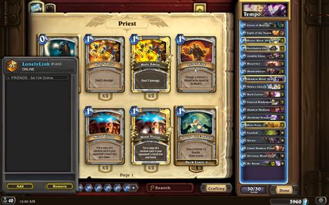 Priest Deck Hearthpwn Basic by Top 100 Legend Tempo Priest S16 Hearthstone Decks