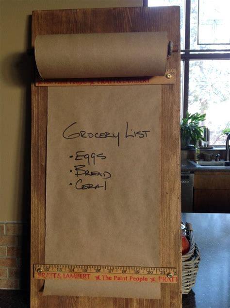 kraft paper roll wall mounted message boardgrocery list