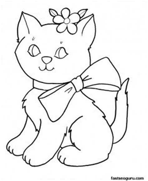 Printable cute kittens for girls coloring pages