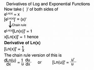 10 derivative of log and exponential functions.