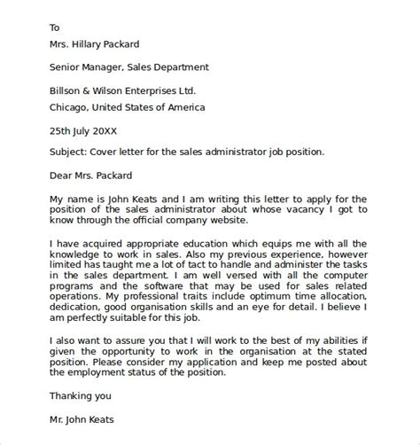 employment cover letter templates samples examples