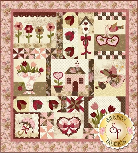 shabby fabrics patterns blessings of spring rebloomed pattern