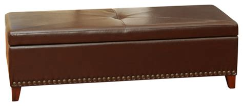 light brown leather ottoman charlize light brown leather storage ottoman