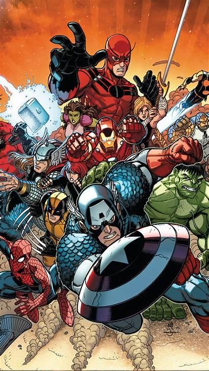 Avengers Iphone Phone Cartoon Comic Marvel Wallpapers