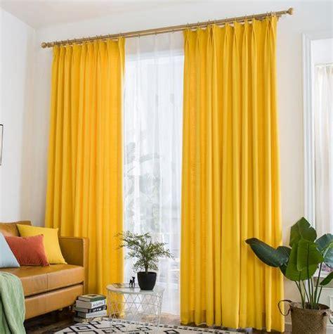 yellow drapes vibrant lemon yellow curtains polyeaster cotton
