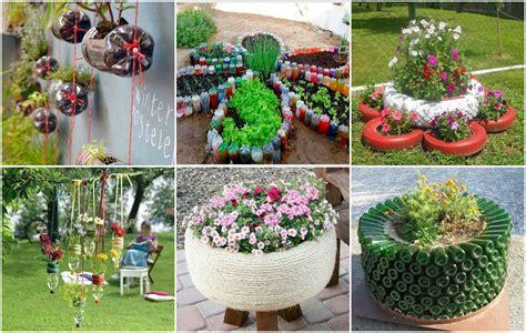 Gartendeko Aus Reifen by Garten Projekte Aus Alten Reifen Und Plastikflaschen