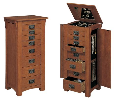 Mission Jewelry Armoire by L Powell Quot Mission Oak Quot Jewelry Armoire